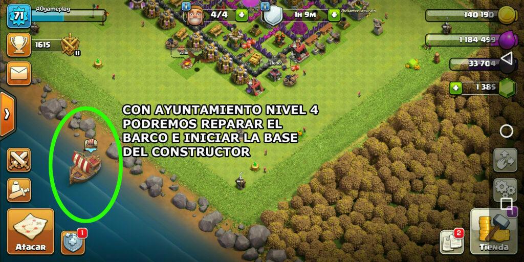clash of clans base del constructor, clash of clans aldea del constructor