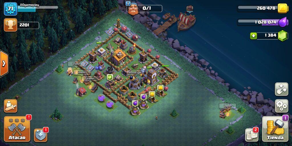 clash of clans aldea del constructor, clash of clans mina de gemas