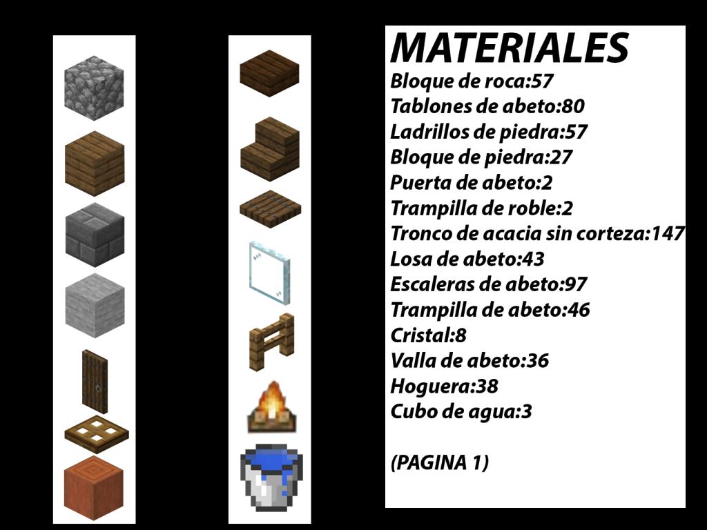 que materiales necesito para hacer una casa en minecraft